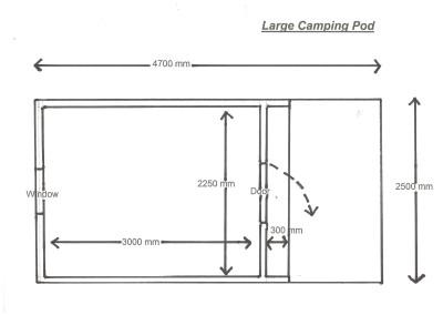 Plan Large Camping Pod