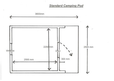 Plan Standard Camping Pod